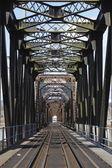 An Old Iron Train Bridge — Stock Photo
