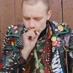 Young Man Smoking — Stock Photo