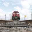 Stock Photo: Low Angle View of Canadian Pacific Train