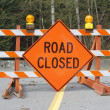 Stock Photo: Road Closed Signage
