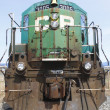 Close Up of Old CP Train - Stock Photo