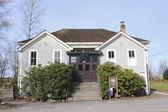 A escola histórica clayburn — Fotografia Stock