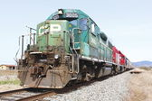 Profile of an Old CP Train — Stock Photo