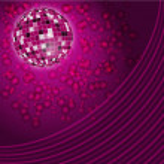 Purple disco lights backdrop — Stock Vector
