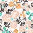 Beautiful flower seamless pattern - Stock Vector