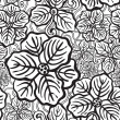 Hand drawn floral wallpaper - Stock Vector