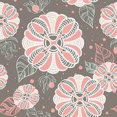 浪漫抽象花卉无缝纹理 — 图库矢量图片
