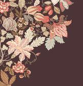 Stilvolle vintage blumen hintergrund — Stockvektor