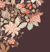 Stylish Vintage Floral Background — Stock Vector