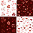 Vector set of heart seamless pattern — Stock Vector #8408028