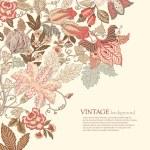 Vintage Floral Background — Stock Vector #9618204