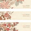 Vintage Floral banner set — Stock Vector