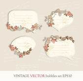 Vintage bubbles vector illustration — Stock Vector