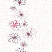 Seamless floral vertical pattern — Stock Vector