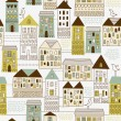 Stock Vector: Seamless pattern with houses