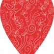 Royalty-Free Stock Vector Image: Red floral heart