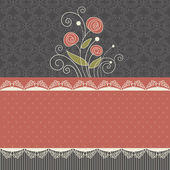 Vintage floral background — Stock Vector