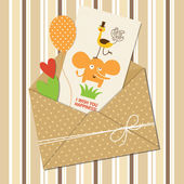 Baby greeting card — Stock Vector