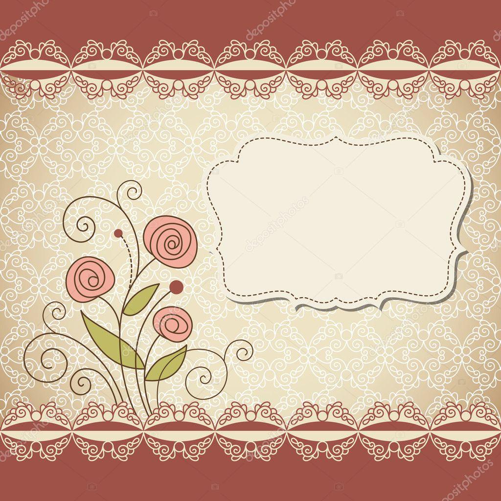Marco vintage con flores vector de stock birdhouse - Marcos vintage para fotos ...