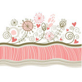 Ilustración floral — Vector de stock