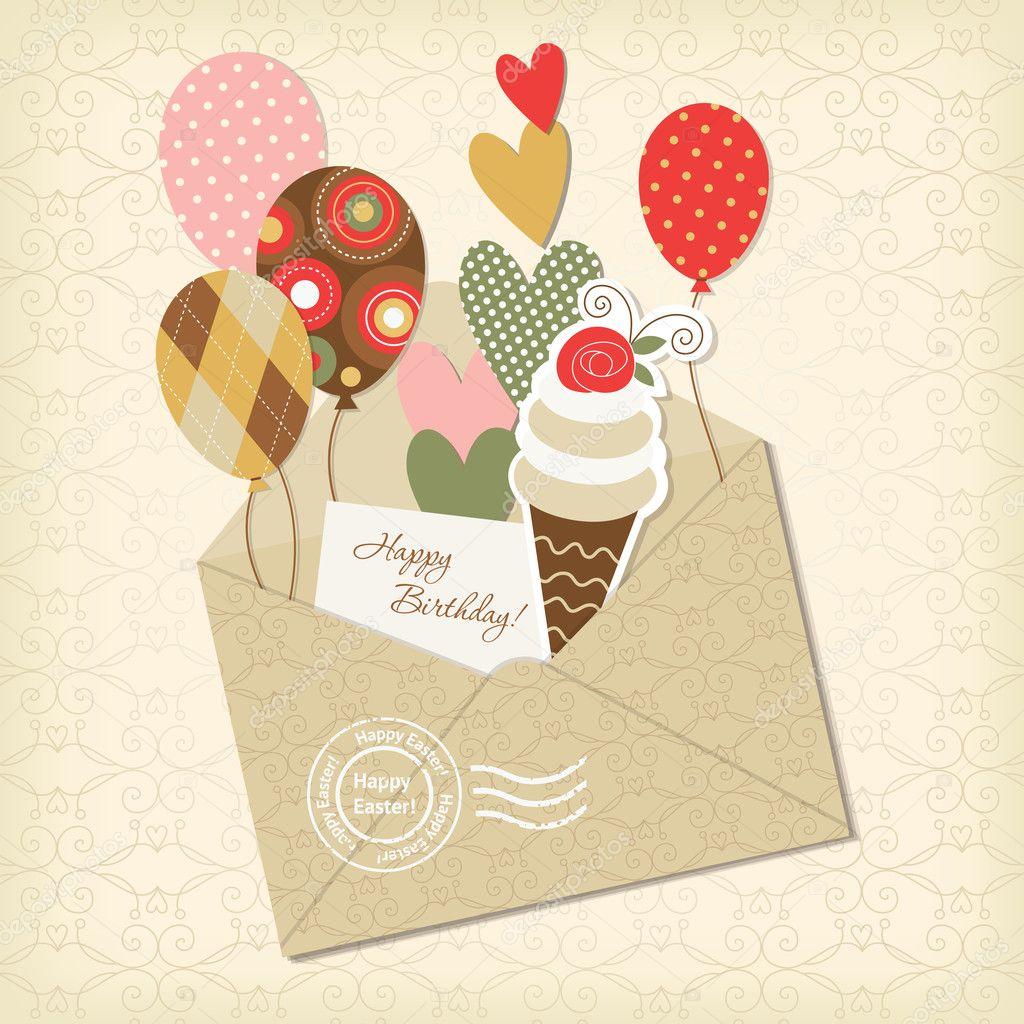 Заготовки скрапбукинг для открытки с днем рождения