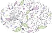 Floral vectorillustratie — Stockvector