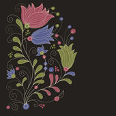 Floral vector illustration — Vector de stock