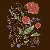 Floral vector illustration — Vettoriale Stock