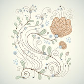 Floral vector illustration — Cтоковый вектор