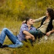 Royalty-Free Stock Photo: Portrait of a couple in love in autumn background