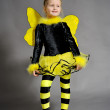 Small girl is dressed at bee costume — Stock Photo #8218853