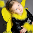 Small girl is dressed at bee costume — Stock Photo #8218913