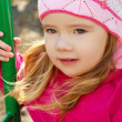 Stock Photo: Portrait of little girl outdoors on a spring day