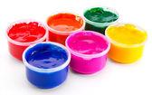 Colored gouache paint — Stock Photo