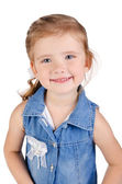Portrait of cute smiling little girl in dress — Stock Photo