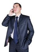 Portrait of the businessman speaking by phone — Stock Photo