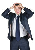 Young businessman worried with a bad business — Stockfoto