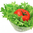 Green salad and tomato — Stock Photo