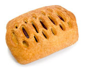 Puff pastry with cherry jam — Stock Photo