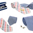 Stockfoto: Mcuff links and tie collection