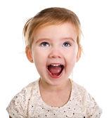Portrét křičící děvčátko — Stock fotografie