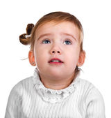 Portrait of the capricious little girl — Stock Photo