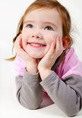 Porträt von glücklich lächelnde mädchen — Stockfoto