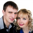 Closeup portrait of a happy young couple — Stock Photo #9401530