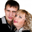 Stock Photo: Closeup portrait of happy young couple