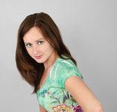 Güzel genç kız portresi — Stok fotoğraf