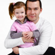 Father and daughter hugging smiling — Stock Photo #9533918