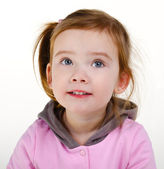 Retrato de niña linda sonriente — Foto de Stock