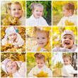 Stock Photo: Collage of photos of smiling little girl