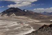 Atacama basecamp for ojos del salado volcano ascent — Stock Photo